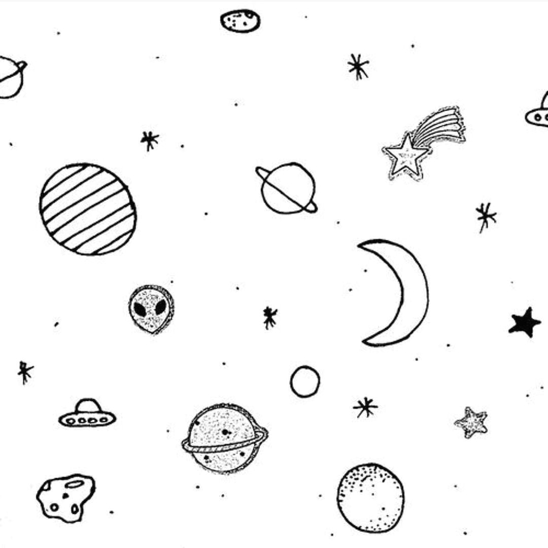 image result for line drawing planets