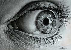 eye realistic pencil drawingsart