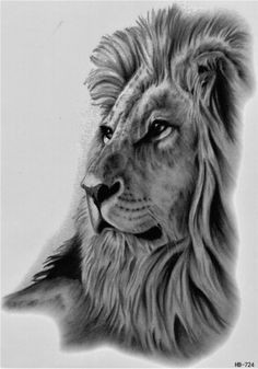 lion animal blood hunt wild temporary tattoo fake tattoo 5 9x8 2 inch hb724