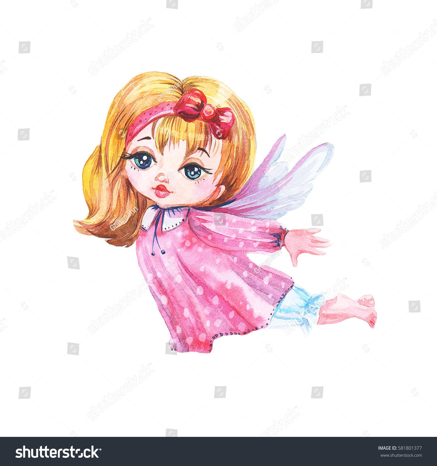 cheerful little girl fairy