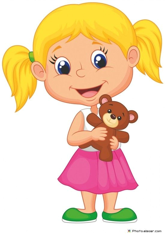 little girl holding bear stuff