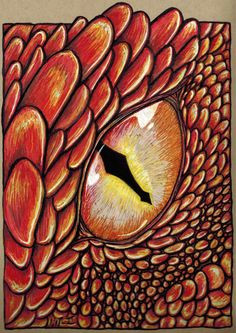 smaug wakes this one is done with bright colored markers on an crate paper dragon eye drawingdragon
