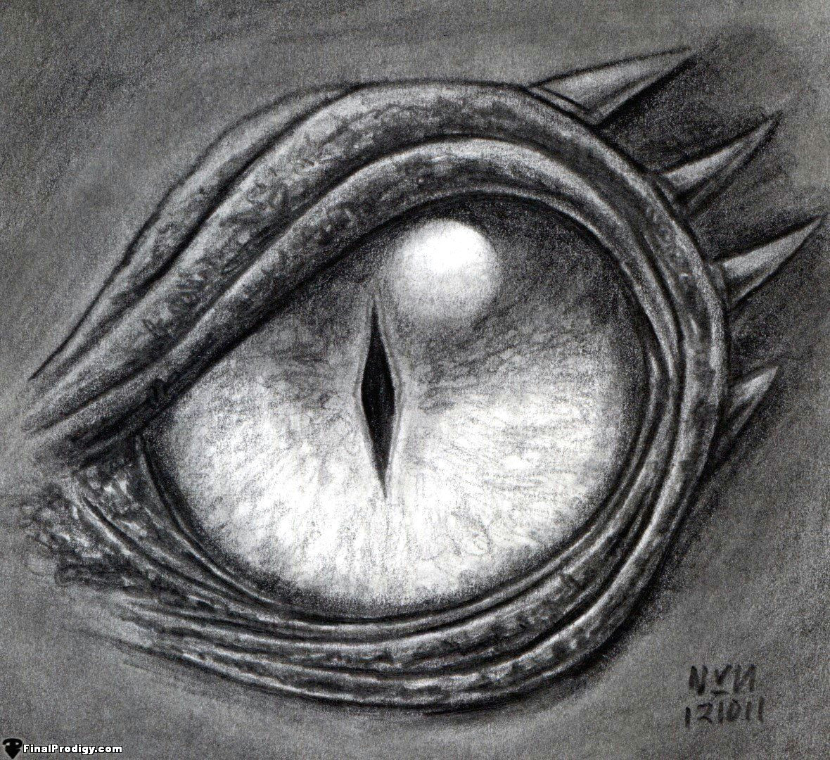 how to draw a dragon eye step by step step 8 define the dark lines using the f and 8b pencils blend in the eye shading using a blending stump