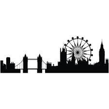 image of london skyline london eye tower bridge
