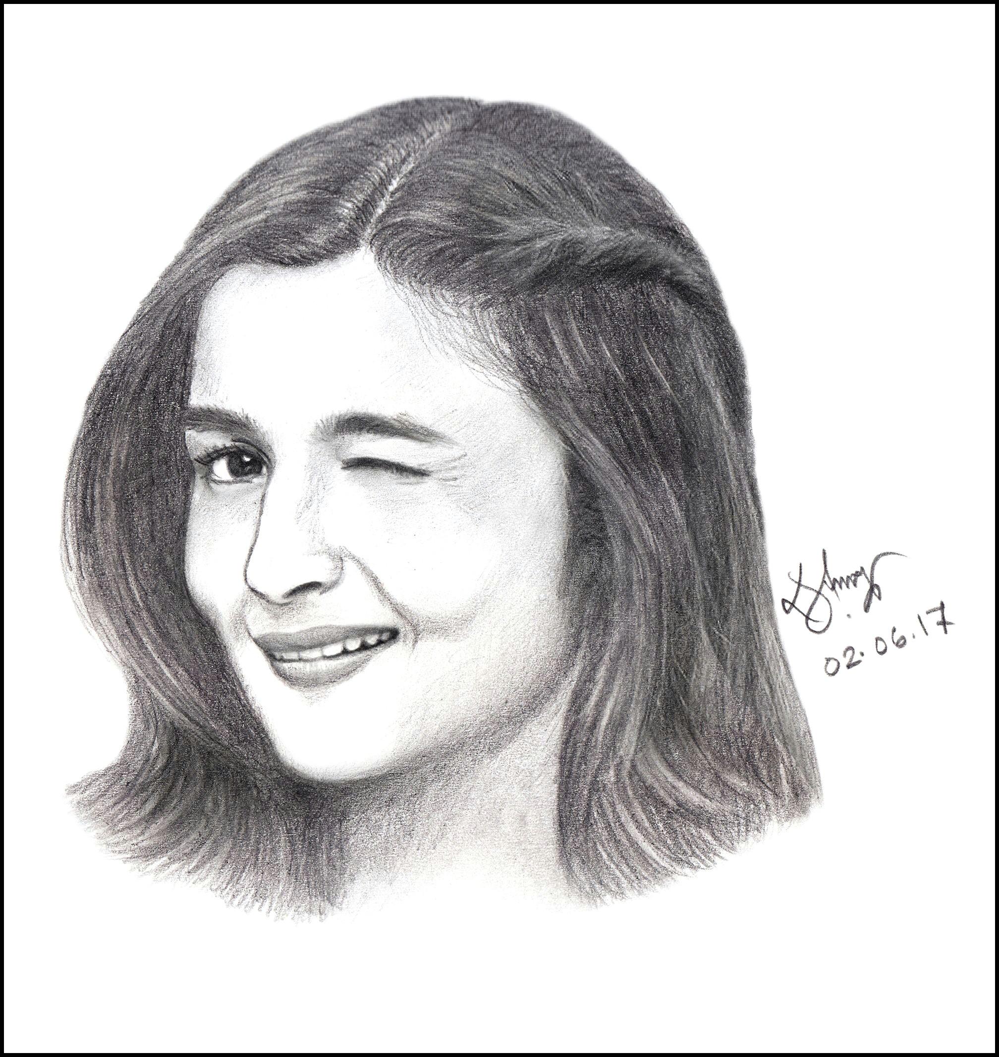 Drawing London Eye Step by Step Alia Bhatt Sketch Alia Aliabhatt Pencilsketch Art Sketch