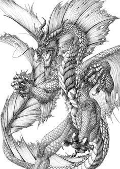 dragon drawing water dragon g dragon fantasy dragon fantasy art