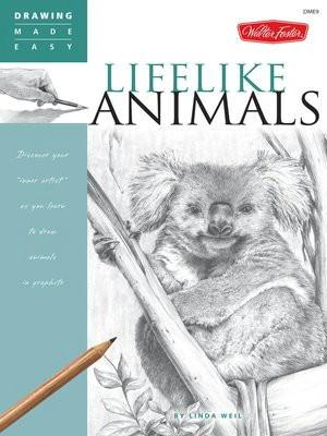 cover image of drawing made easy lifelike animals