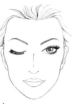 face template makeup mac face charts makeup face charts face makeup makeup