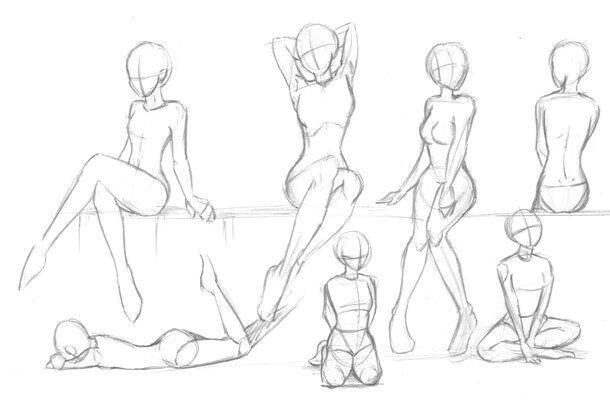 body positions female girl how to draw manga anime drawing manga bodies
