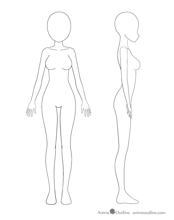 easy to draw manga girl anime body template new media cache ec0 pinimg 736x 0d 24