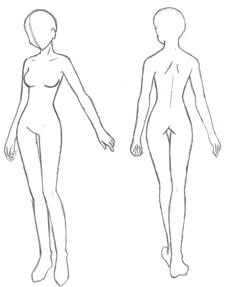 female body sketch lovely anime body template new media cache ec0 pinimg 736x 0d 24 8e