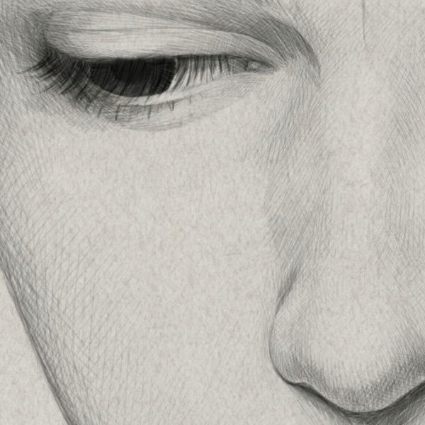 close ups of diego fernandez work a pencil drawingsmedium