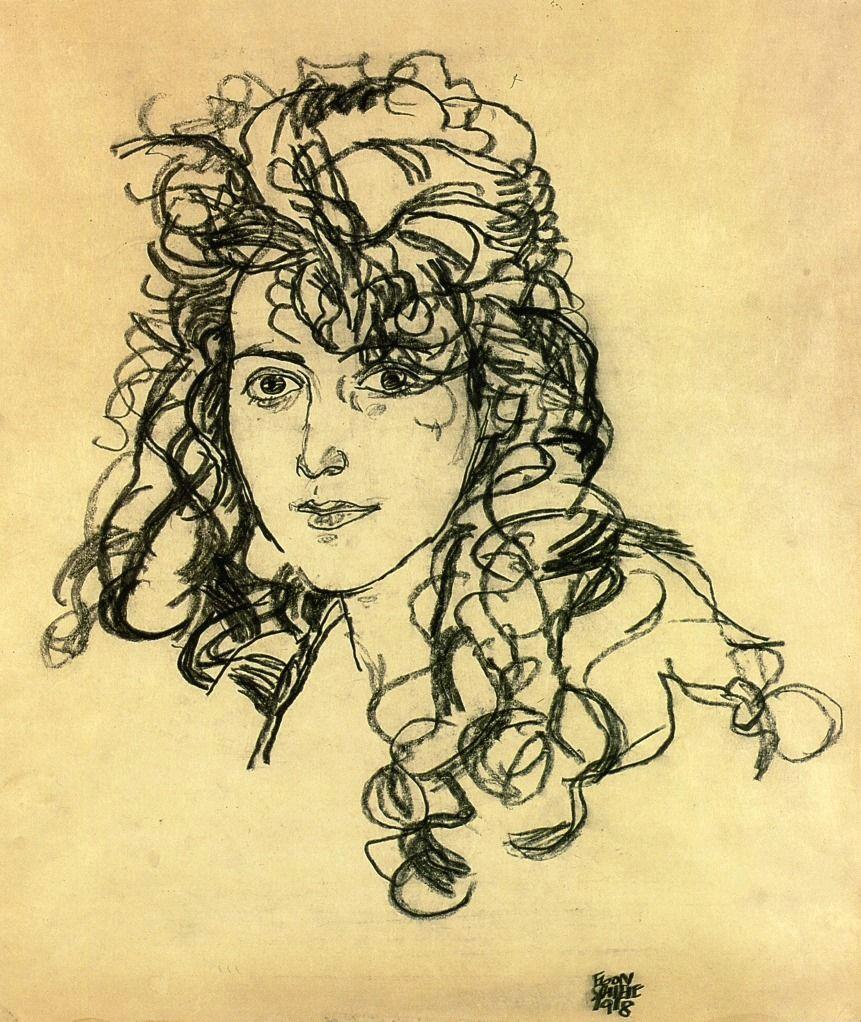 madame sohn 1918 egon schiele size 36x30 cm medium charcoal on paper