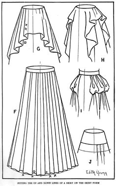 how to draw a dress fashion design drawing side plaited skirt part 3 drawings