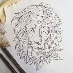 111 cool things to drawi drawing ideas for an adventurer s heart lion tattoo