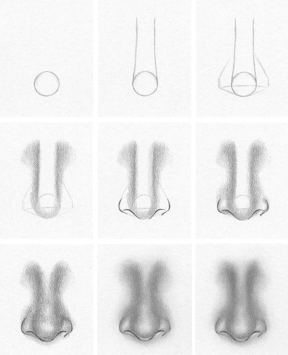 resultado de imagem para desenhos nariz tumblr