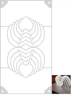 risultati immagini per spiral heart pop up card template