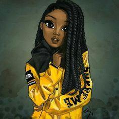 keke palmer drawing a natural hair art black women art black girl art