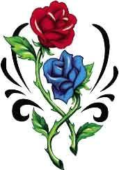 red blue rose tattoo tattooforaweek red rose