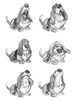 basset hound drawings that look exactly like my boy make me ecstatic