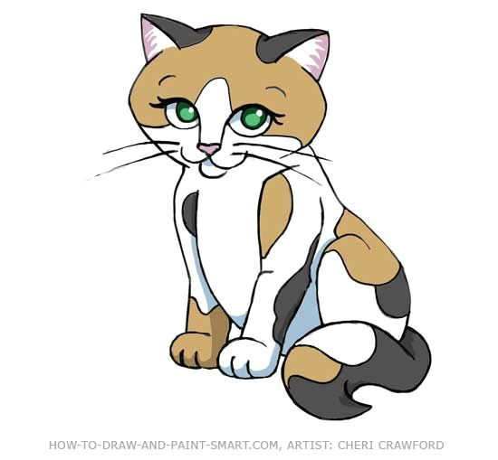 calico cat clip art