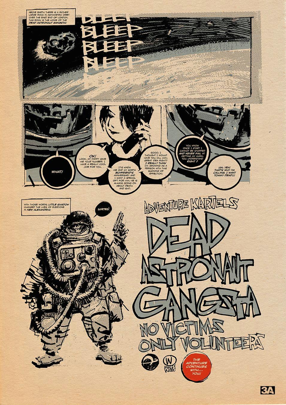 dead astronaut gangsta comic