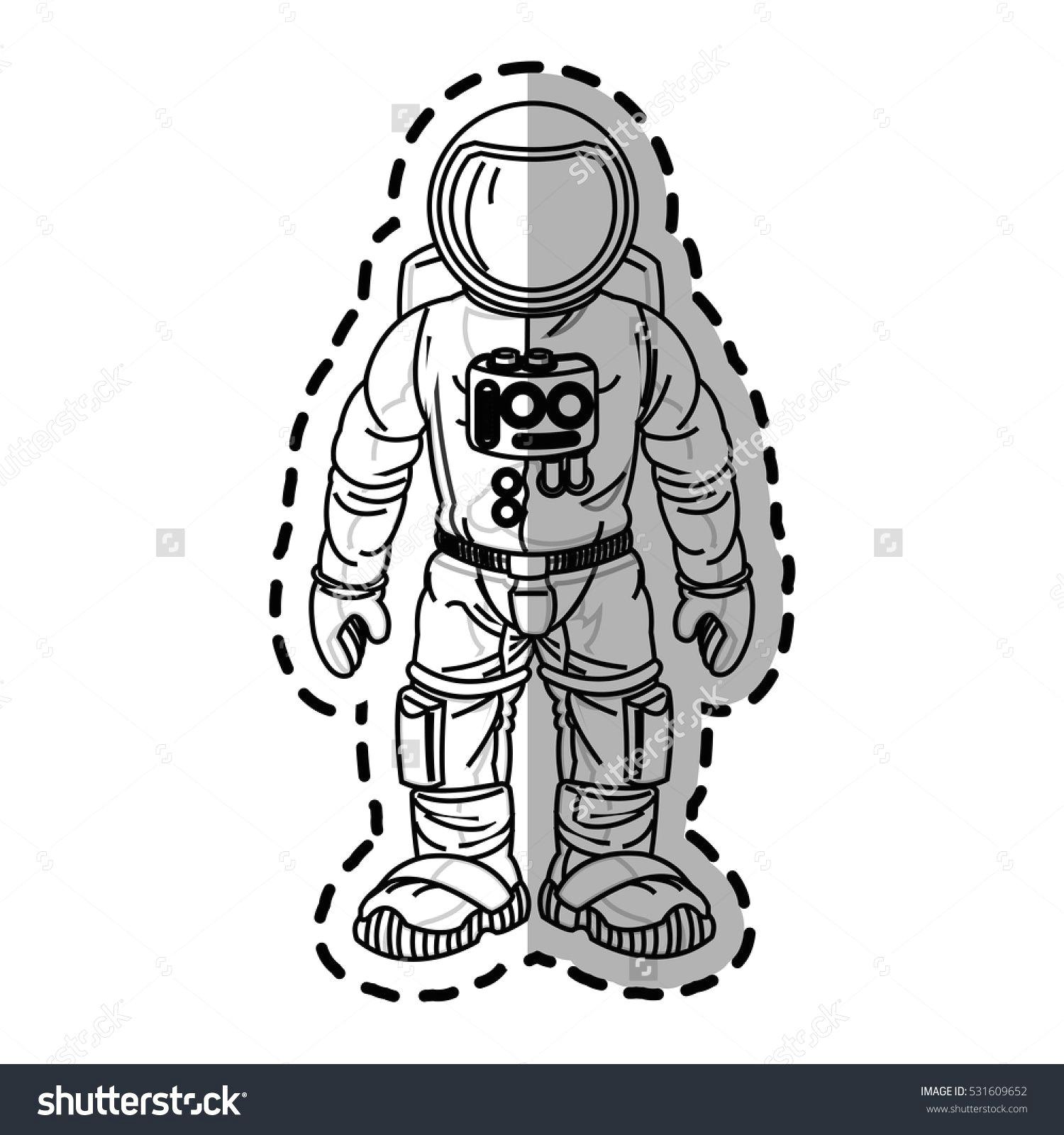 isolated astronaut cartoon design