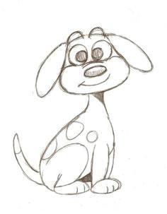 drawing a cartoon dog