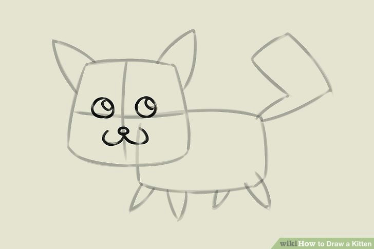 image titled draw a kitten step 4