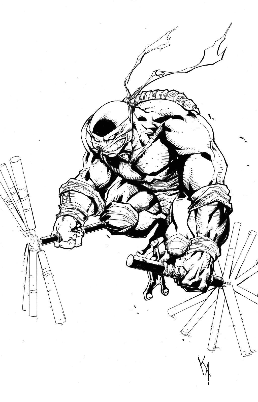 Drawing Of A Cartoon Ninja Michelangelo Tmnt Komickarl Deviantart Com Tmnt Tmnt Ninja