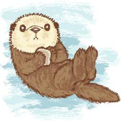 sea otter by toru sanogawa otter cartoon love drawings cartoon drawings