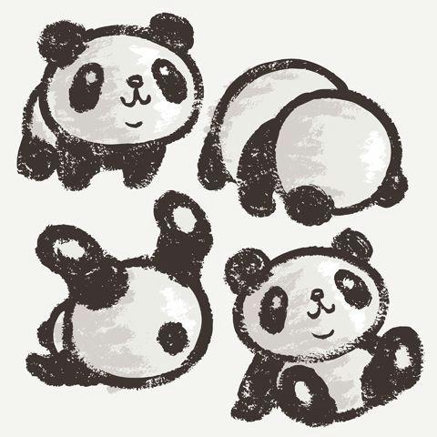 panda by toru sanogawa via behance