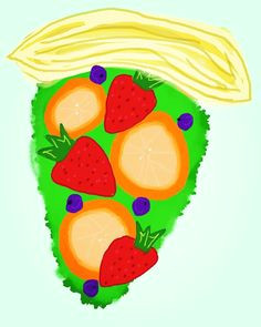 fruit pizza art fruit healthy junkfood yum eat dinner lunch tasty digitalart painting drawing brush creative food
