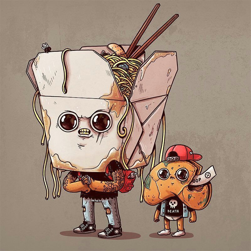 rotten chinese takeout therottenfoods by alexmdc rotten food pizza art food cartoon