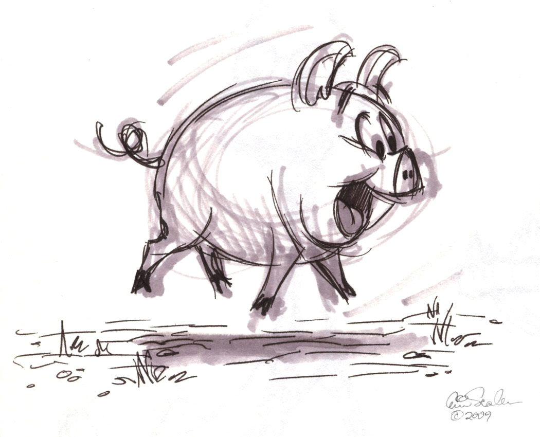 pig sketch by eric scales