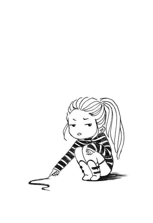 Drawing Of A Cartoon Taco Bored Girl Drawing by Indra Bankauskaita Artist In Me Drawings