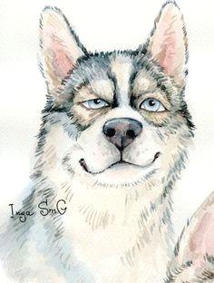 zeichnungsfahigkeiten hunde gemalde hundekunst fuchse wolfe hunde