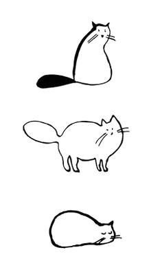 cat drawings cat doodle cat sketch fat cat tattoo simple cat