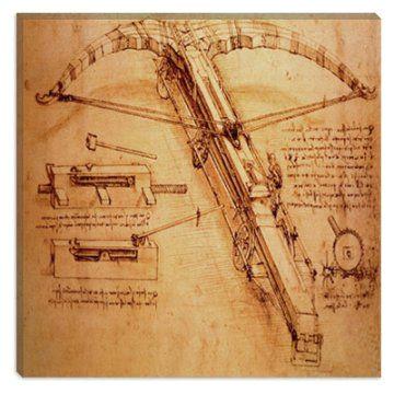 giant catapult c 1499 by leonardo da vinci canvas painting