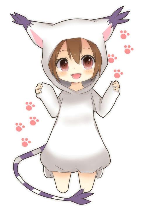 chibi cat anime girl
