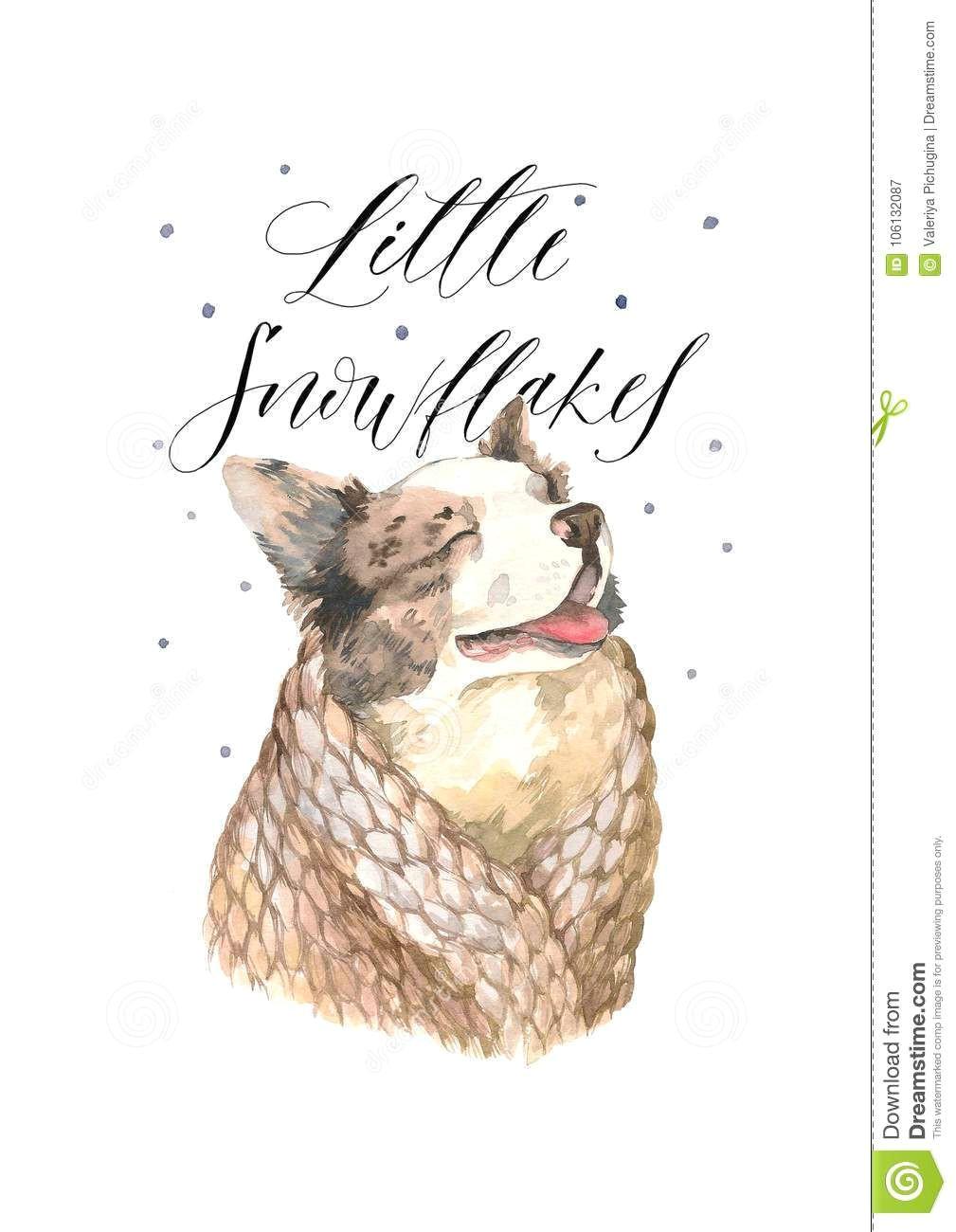 christmas or new year illustration dog christmas christmascards