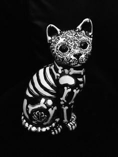 Drawing Of A Dead Cat Dia De Los Muertos Cat More by Beatriz Drafting Patterns In 2019