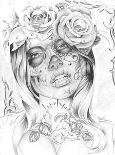 Drawing Of A Dead Girl 58 Best Day Of the Dead Girl Tattoo Images Drawings Mexican