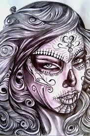 znalezione obrazy dla zapytania sexy day of the dead girl tattoo skull girl tattoo sugar
