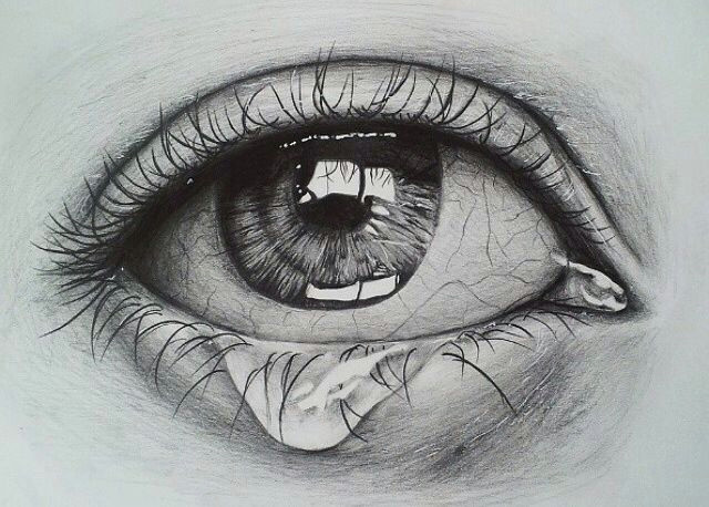 crying eye sketch drawing pinterest drawings eye sketch and eyes artwork