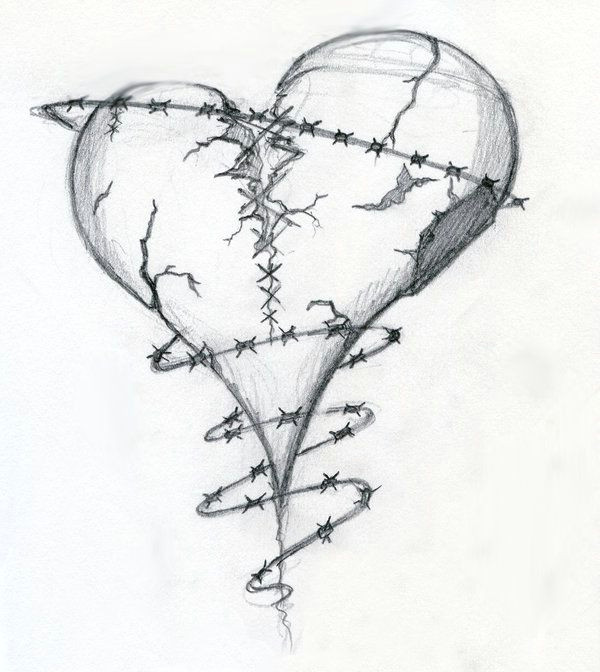 Drawing Of A Detailed Heart Heart Drawings Dr Odd