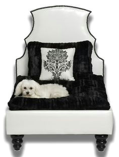 dog house bed black and white