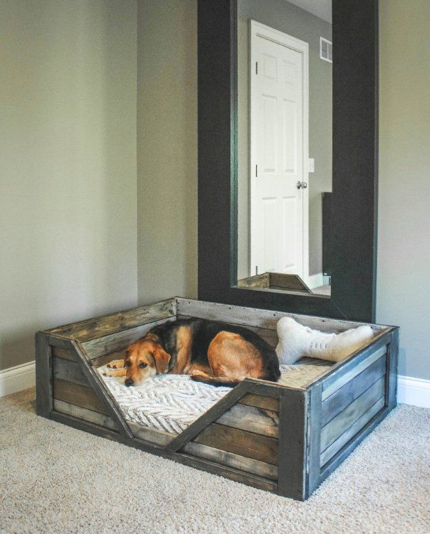 diy dog beds diy rustic dog bed projects and ideas for large medium