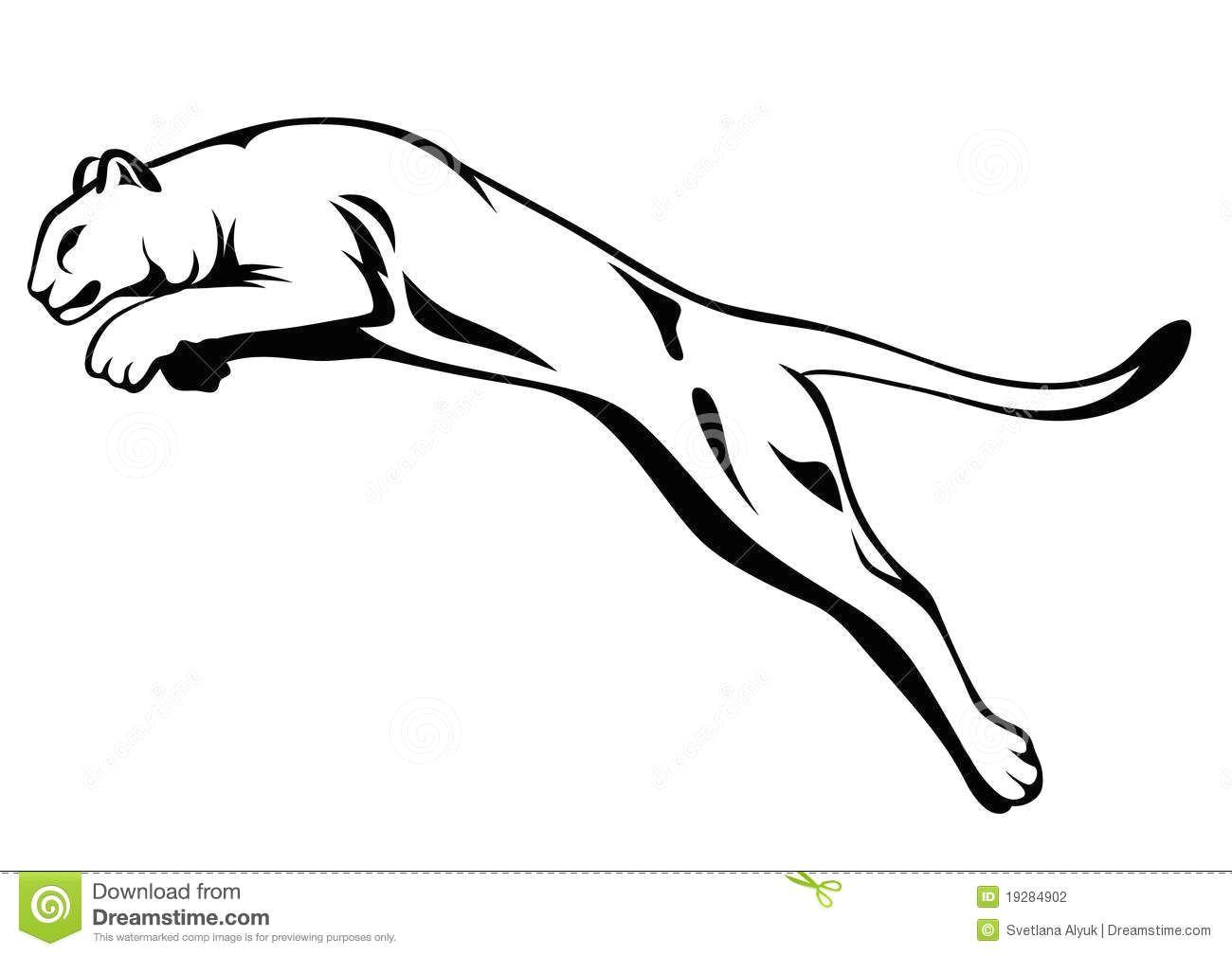 mountain lion black and white illustration panther attacking black and white illustration mr no pr no 2 1409 3 mountain lion enemy