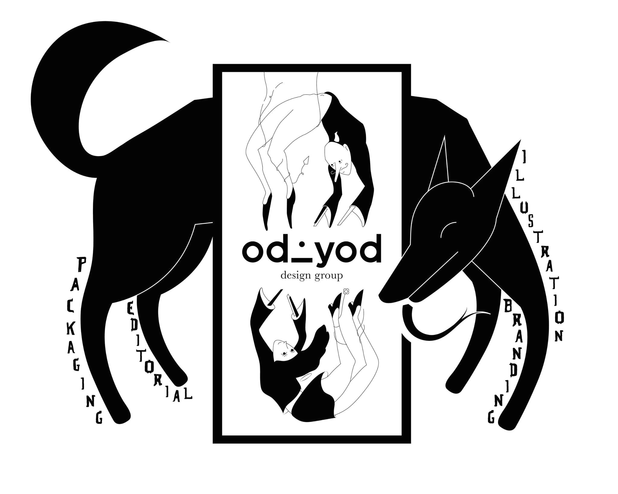 odd triad a girl a boy a dog oddyod sekaf dog black